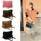 CHIC Women Leather Tassel Shoulder Bag Messenger Handbag Crossbody Tote Satchel