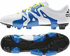 adidas X 15.3 Firm Ground / AG Leather Mens Football Boots - White