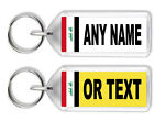 Personalised Registration   Number Plate Keyring - Asian Flags *Great Gift*