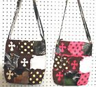 CAMO CAMOUFLAGE WESTERN PURSE RAGBAG RAG CROSS BODY MESSENGER  BAG PINK  BROWN