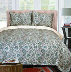 100% Cotton Moroccan Paisley Quilt Set