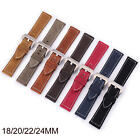 18mm 20mm 22mm 24mm Retro Genuine Leather Watch Band Vintage Strap Women Mens image