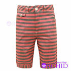 NEW MENS BELLFIELD SUMMER COTTON TROUSERS CHAMBRAY STRIPED CHINO SHORTS 28-36