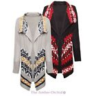 BRAVE SOUL WOMENS LADIES PERUVIAN AZTEC KNITTED FRONT LONGLINE LONG CARDIGAN