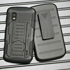 Armor Shockproof Hybrid Rugged Rubber Protective Hard Stand Case Cover + Holster <br/> Available For Most Popular Models , Fast Ship From USA