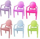 Plastic Garden Patio Outdoor Picnic Party Camping Ghost Chair Armchair Kids Seat