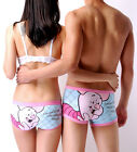 Disney Underpants Underwear Women Brief Couple Brief Boxer Piglet Pink/Blue U-07