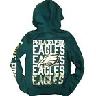 Victoria's Secret Philadelphia Eagles Hoodie Full Zip Up Nfl Bling Sequin Vs New