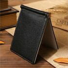 Faux Leather Money Clip Slim Thin Front Pocket Wallet ID Cards Holder New Gift