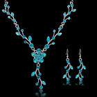 2017 Women Crystal Rhinestone Necklace Earrings Party Set Wedding Bridal Jewelry