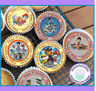 24 X PAW PATROL 5TH BIRTHDAY EDIBLE CUPCAKE TOPPERS WAFER PAPER OR ICING