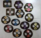 Hand Painted Coconut Shell Scarf or Sarong Buckle - various shapes Approx 6- 7cm