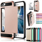 galaxy lighting - Card Pocket Wallet ShockProof Hybrid Armor Case Cover for iPhone Samsung Galaxy