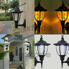 Outdoor Solar Powered Wall Mount LED Light Path Garden Landscape Fence Yard Lamp