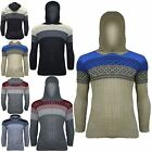 Mens Aztec Long Sleeves Cable Chunky Knitted Sweater Sweatshirt Hoody Jumper Top