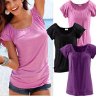 Women Fashion Summer Loose Top Short Sleeve Blouse Ladies Casual Tops T-Shirt