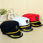 Adult Yacht Boat Captain Hat Navy Cap Sailor Costume Party Fancy Dress