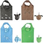 Compact Animal Design Foldable Shopping Bag with Matching Pouch and Clip