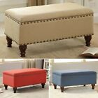 Storage Bench Ottoman Bedroom Upholstered Things Seat Living Room End Of Bed