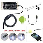 7mm/5.5mm Android Endoscope 6 LED USB Waterproof Borescope Inspection camera
