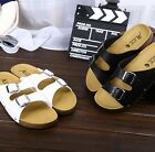 New Men's fashion casual sandals twill slippers open-toed sandals shoes