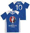 Boys Official UEFA EURO 2016 FRANCE Football No10 V Neck Top 4 to 14 Years