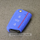 New VW Seat Skoda 3 Button Flip Key Fob Cover Case Skin Hull Silicone Rubber H