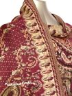 100% Pashmina Shiny Triple Paisley Shawl Scarf 10Colors