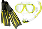 Tusa Freedom Ceos Mask/ Platina II Hyperdry Snorkel and Solla Fins Set