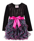 BNWT Beautees Girl Boutique Princess Holiday Leopard Black TuTu Dress