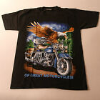 QualityT.Shirt With MOTORCYCLE Color In Front Black White At Back Size S