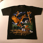 T.Shirt With Eagle And Nest Color In Front Black White At Back Size S -  XXL