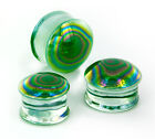 PEARL GREEN Front Glass Double Flare Plugs - Price Per 1 image