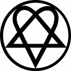Heartagram Vinyl Decal / Sticker, HIM,