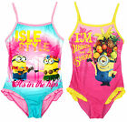 Girls Despicable Me Minions Frill Trim Tropical Swimming Costume 3 to 8 Years