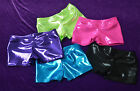 CLEARANCE!  GYM/DANCE SHORTS METALLIC JEWEL TONES YOUTH SIZES CXS CS CM CL NWOT
