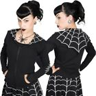 Women's White Spiderweb Bat Flap Jacket Kreepsville Gothic Horror Fashion