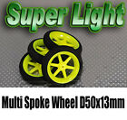Super Light Multi Spoke Wheel D50x13mm (4pcs/bag) - 4 x Wheels