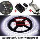 5M White 5630 LED Strip Flexible Light +Dimmer Controller +5A 12V Power Adapter
