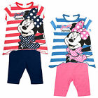 Girls Disney Minnie Mouse Pretty Stripe Top & Cycling Shorts Set 6 to 23 Months