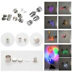 One Pair LED Glowing Party Light Up Led Blinking Ear Stud Earrings