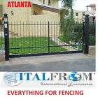 Sliding gate panel fencing railing galvanized wrought iron ATLANTA