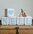 LARGE Shabby Chic PERSONALISED wooden name blocks Christening birthday GIFTS