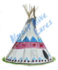 Tee Pee Western Indian Vinyl Decal Sticker - Auto Car Truck RV Cell Cup Boat