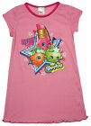 Girls Shopkins Strawberry Kiss Apple Blossom Nightdress Nightie 2 to 8 Years