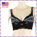9012bk Sexy Lace Fashion Rhinestone Crystal Burlesque Belly Dance B Cup Bra