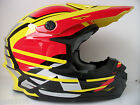 ACERBIS YELLOW RED MOTOCROSS ENDURO HELMET (Sz M/L) DOT RM RMZ DRZ CR CRF XR YZF