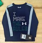 Boys Under Armour 2 Piece Long Sleeves with Pants 'I make the Rules' Blue Knight