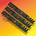 "Replaces John Deere # M115496 Set of 3 Commercial Mulching Blades 54"" Cut Mower"