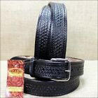 HILASON BLACK HANDMADE TOOL HEAVY DUTY WESTERN LEATHER MENS GUN HOLSTER BELT